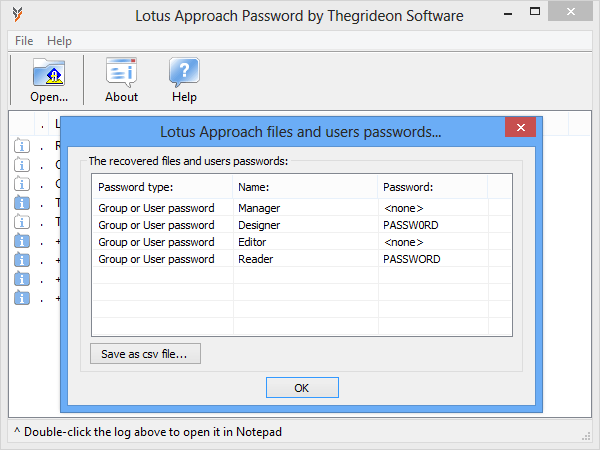Lotus Approach Password 2.1 full