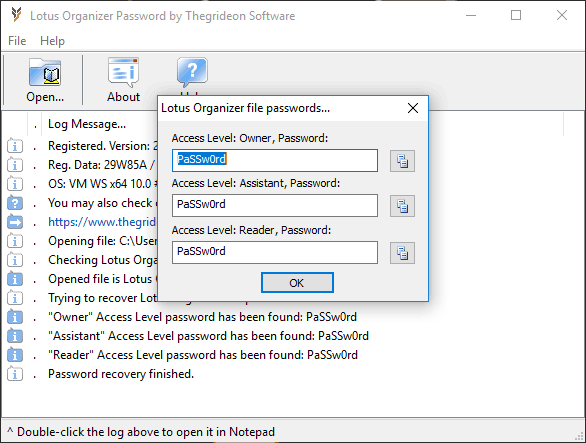 Lotus Organizer Password 2.1 full