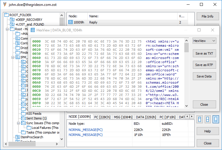 OST and PST Forensics by Thegrideon Software