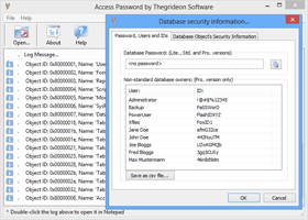Access Password Recovery Dialog