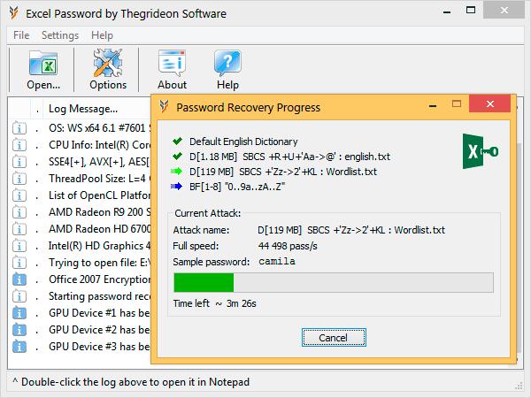 crack excel 2007 password freeware shareware
