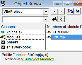 VBA Object Browser